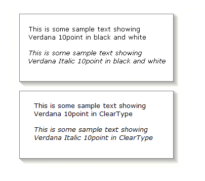 Cleartype vs standard